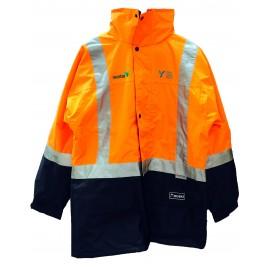 Transit Jacket (Orange/Navy) with 2 logos