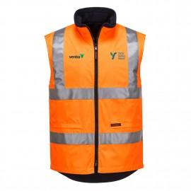 Polar Fleece Reversible Vest (Orange) with 2 logos