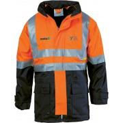 4-in-1 Jacket/Vest Combo (Navy/Orange) with 2 logos