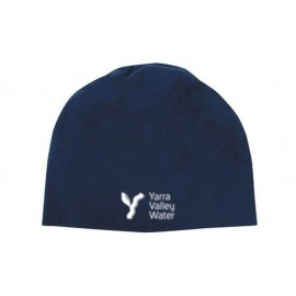 Cotton Lightweight Beanie (Navy) with YVW logo