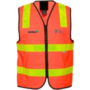 Vic Roads Approved Safety Vest (Orange) with 2 logos