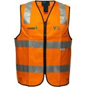 Day/Night Cotton Safety Vest (Navy/Orange) with 2 logos